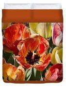 Tulips At Dallas Arboretum V81 Duvet Cover