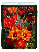 Tulips At The Pier Duvet Cover