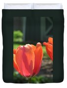 Tulips Backlit 2 Duvet Cover