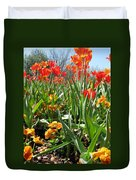Tulips - Field With Love 64 Duvet Cover