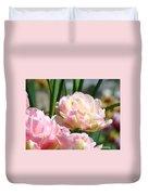 Tulips Flowers Garden Art Prints Pink Tulip Floral Duvet Cover