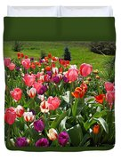 Tulips Garden Art Prints Colorful Spring Floral Duvet Cover