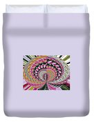 Tulips Hydrangeas Easter Lilies Daffodils Polar Coordinate Effect Duvet Cover