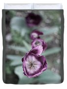 Tulips In A Garden Duvet Cover