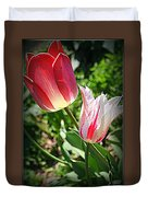 Tulips In Red And White Duvet Cover