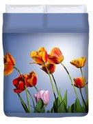 Tulips In Sun Light Duvet Cover