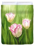 Tulips In The Fog Duvet Cover