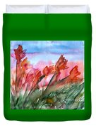 Tulips In The Wind Duvet Cover