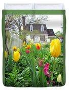 Tulips In Williamsburg Duvet Cover