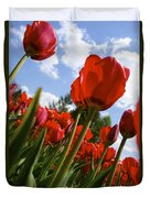 Tulips Leaning Tall Duvet Cover