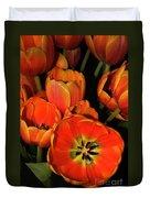 Tulips Of Fire Duvet Cover