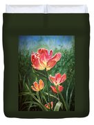 Tulips On Fire Duvet Cover
