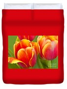Tulips Red And Yellow Duvet Cover