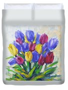 Tulips Time Love The Spring By Prankearts Duvet Cover