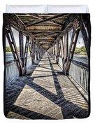 Tulsa Pedestrian Bridge Duvet Cover by Tamyra Ayles