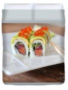 Tuna Sushi With Caviar  Duvet Cover