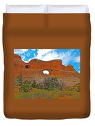 Tunnel Arch On Devils Garden Trail In Arches National Park-utah In Arches National Park-utah Duvet Cover