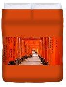 Tunnel Of Torii Gates, Fushimi Inari Duvet Cover