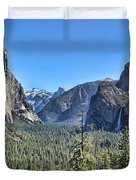 Tunnel View At Yosemite Duvet Cover