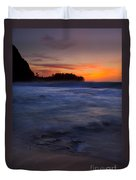 Tunnels Beach Dusk Duvet Cover