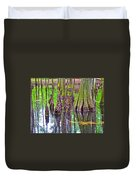 Tupelo/cypress Swamp Reflection At Mile 122 Of Natchez Trace Parkway-mississippi Duvet Cover