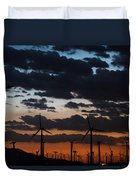 Turbine Sunset Duvet Cover
