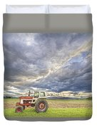 Turbo Tractor Country Evening Skies Duvet Cover by James BO  Insogna