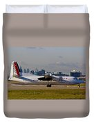 Turboprop Aircraft Duvet Cover