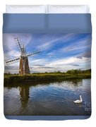Turf Fen Drainage Mill Duvet Cover