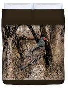 Turkey Vulture Portrait Duvet Cover