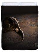 Turkey Vulture Skull On Slate Duvet Cover