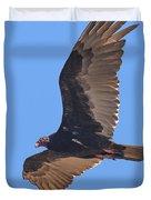 Turkey Vulture Soaring Overhead Drb153 Duvet Cover