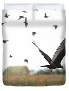 Turkey Vulture Takes Flight Duvet Cover