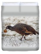Turkey With Apple Stuffing Duvet Cover