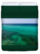 Turks Turquoise Duvet Cover by Chad Dutson