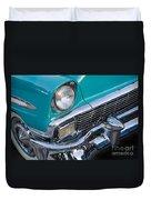 Turquoise 1956 Belair Duvet Cover