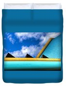 Turquoise And Gold Duvet Cover