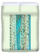 Turquoise Chained Duvet Cover
