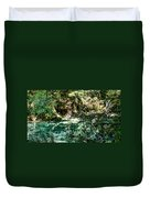 Turquoise Forest Pond On A Summer Day No1 Duvet Cover