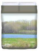 Turquoise Marsh Duvet Cover