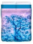 Turquoise Oak Tree Duvet Cover by Priya Ghose