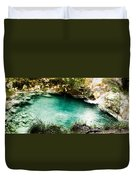 Turquoise River Waterfall And Pond Duvet Cover