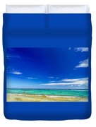 Turquoise Sea And Blue Sky Duvet Cover