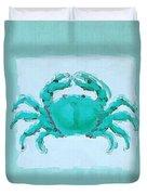 Turquoise Seashells I Duvet Cover