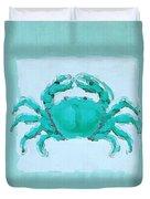 Turquoise Seashells I Duvet Cover by Lourry Legarde