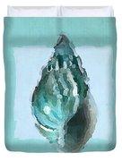 Turquoise Seashells V Duvet Cover by Lourry Legarde
