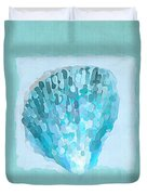 Turquoise Seashells Vii Duvet Cover