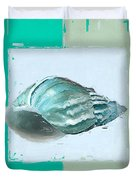 Turquoise Seashells Xiv Duvet Cover by Lourry Legarde