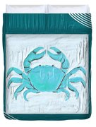 Turquoise Seashells Xix Duvet Cover
