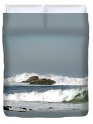 Turquoise Waves Monterey Bay Coastline Duvet Cover